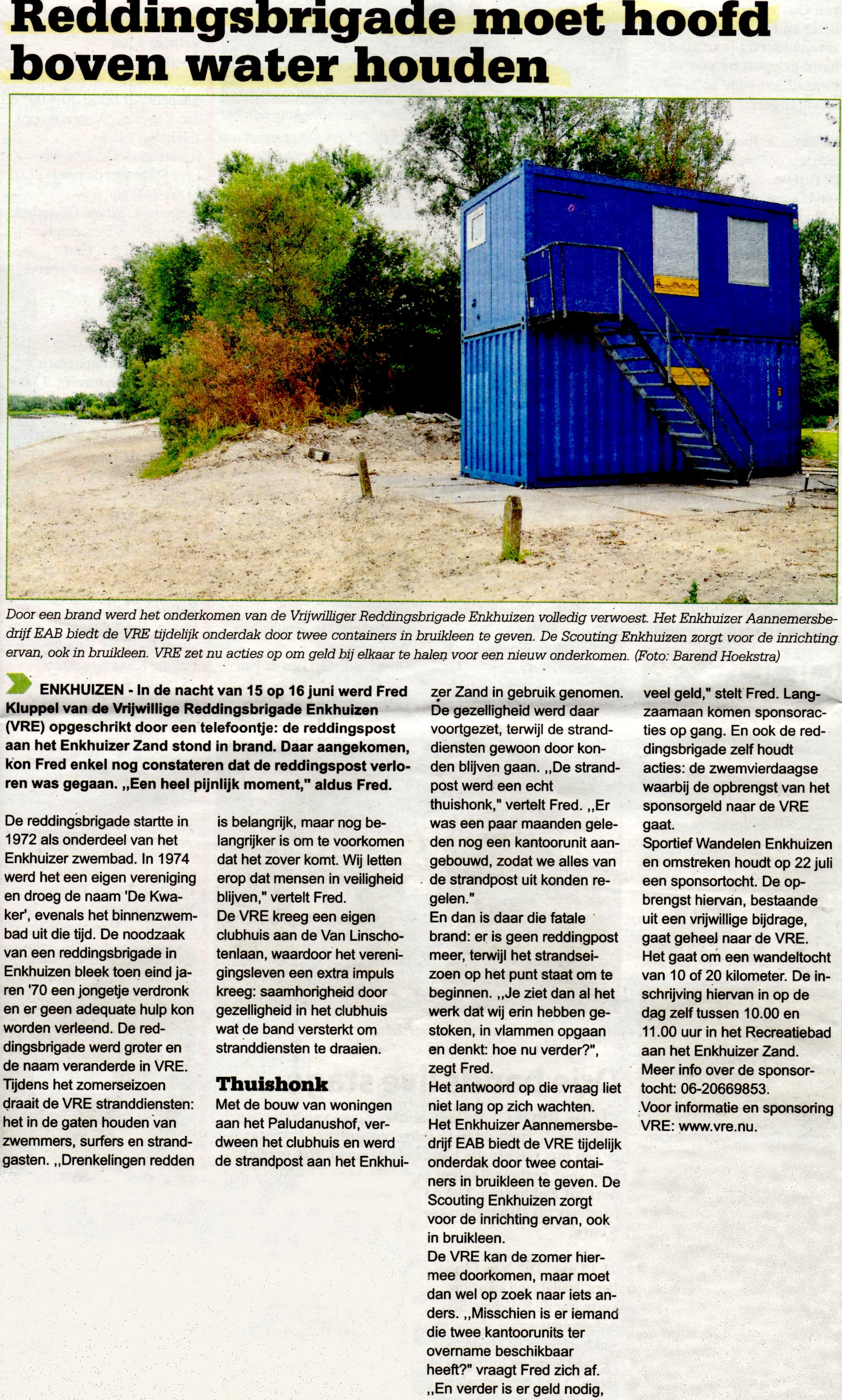 Westfries Weekblad, 4 juli 2012