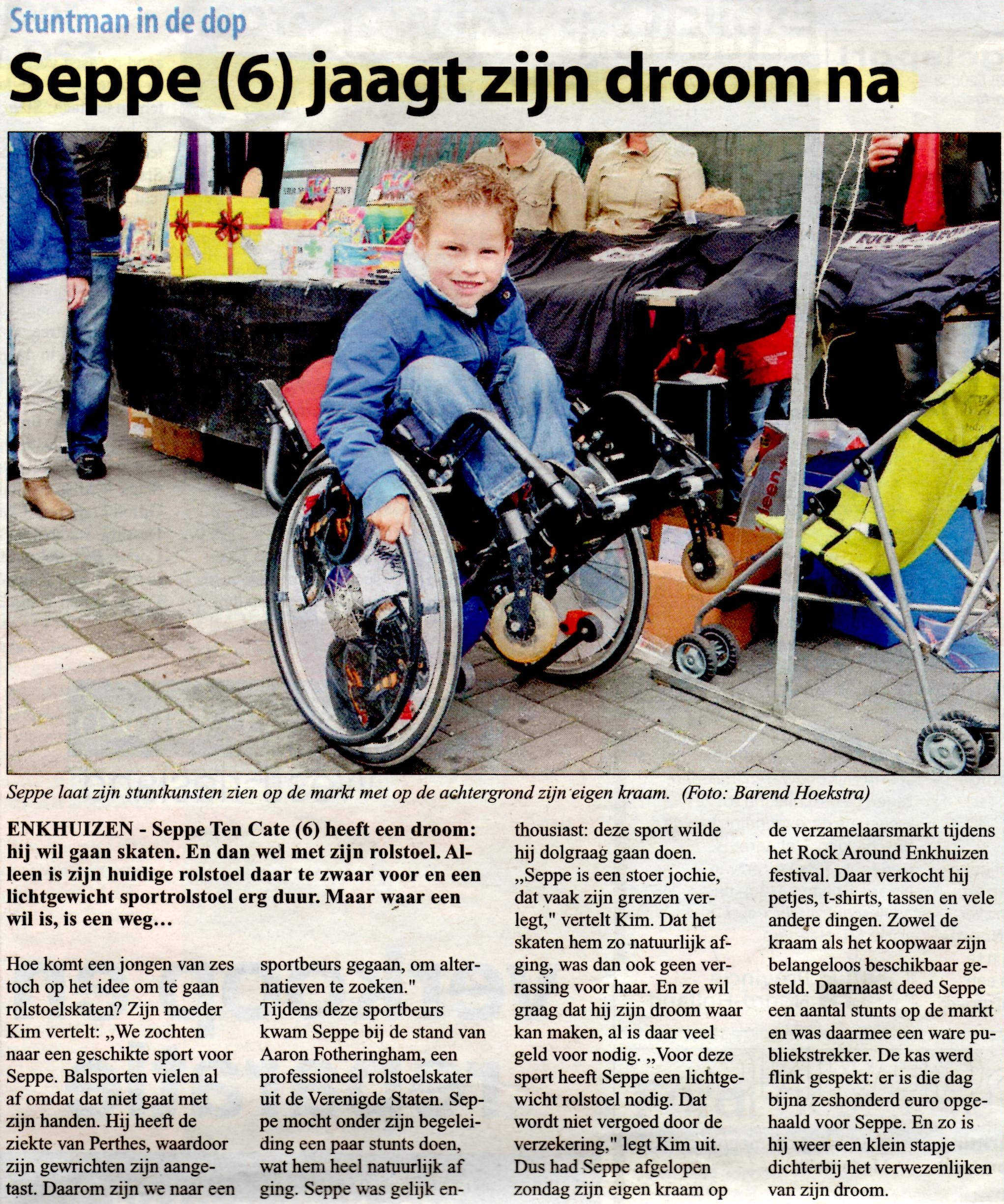 Westfries Weekblad, 18 juli 2012